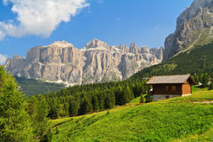 Dolomiti - alta valle di Fassa Fotografia Stock
