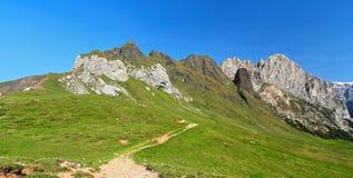 Dolomiti - alta valle di Fassa Immagine Stock