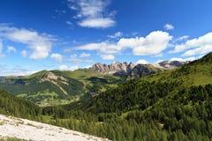 Dolomiti - alta valle di Gardena Fotografia Stock