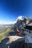 Dolomiti - Ansicht von der Rosetta Montierung lizenzfreies stockbild