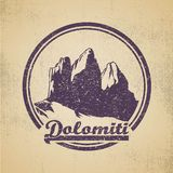Dolomiti Royalty Free Stock Photos