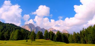 Dolomiti berg Arkivbild