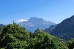 Dolomiti berg Arkivbilder