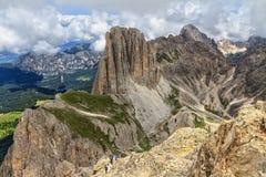 Dolomiti - Catinaccio grupp Arkivfoto