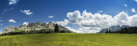 Dolomiti, Catinaccio and Latemar panorama Royalty Free Stock Images