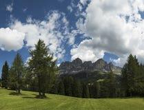Dolomiti, Catinaccio panorama - Karersee Stock Image