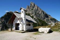 Dolomiti Church. A mountain church in a sunny day Stock Photography
