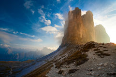 Dolomiti cime Tre Стоковое Фото