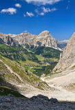 Dolomiti - Colfosco in Badia Valley Stockfotos