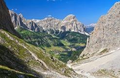 Dolomiti, Colfosco w Val Badia - Obraz Stock