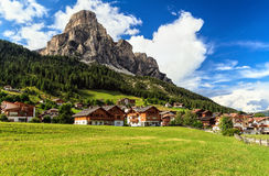 Dolomiti - Corvara in Badia small town Royalty Free Stock Photo