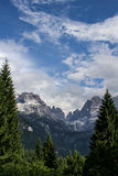 Dolomiti. Del Brenta - Madonna de Campiglio - Summer Vacation - Dolomite Mountains Royalty Free Stock Image