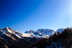 Dolomiti di Brenta dans un jour d'hiver photographie stock