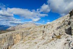 Dolomiti Di Brenta halne skaliste ściany Fotografia Stock