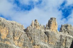 Dolomiti Di Brenta halni skaliści szczyty Fotografia Stock