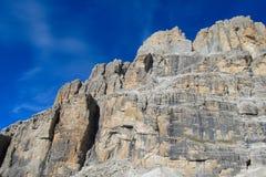 Dolomiti Di Brenta halni skaliści szczyty Zdjęcie Royalty Free