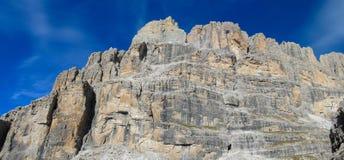 Dolomiti Di Brenta halni skaliści szczyty Obrazy Stock