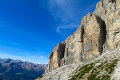 Dolomiti Di Brenta halni skaliści szczyty Zdjęcia Stock