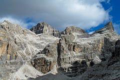 Dolomiti Di Brenta halni skaliści szczyty Fotografia Royalty Free