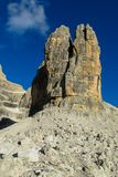 Dolomiti Di Brenta halni skaliści szczyty Zdjęcia Royalty Free