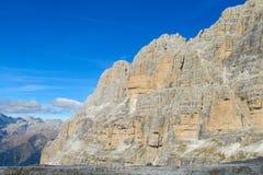 Dolomiti Di Brenta skalistej góry ściana Obraz Stock
