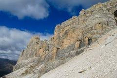 Dolomiti Di Brenta skalistej góry ściana Obraz Royalty Free