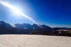 Dolomiti di Brenta in a winter day Stock Photo