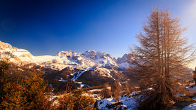 Dolomiti di Brenta in a winter day Royalty Free Stock Image