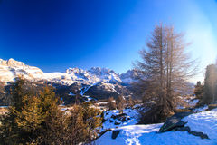 Dolomiti di Brenta in a winter day Royalty Free Stock Photography
