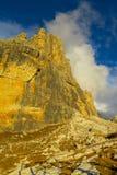 Dolomiti Di Brenta zmierzchu światła góry Obrazy Royalty Free