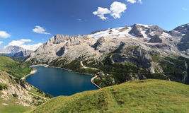 Dolomiti - Fedaia lake Royalty Free Stock Photos
