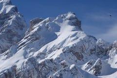 Dolomiti fjällängar Italien Arkivfoton
