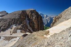 Dolomiti - Forcella Sass Pordoi Stock Photography