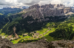 Dolomiti - hohe Badia Valley Stockfotografie