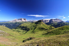 Dolomiti - hohes Fassa-Tal Lizenzfreies Stockfoto