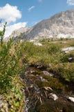 Dolomiti, Italy. Walking trenches on the rocky mountains of Lagazuoi Mountain Stock Photo