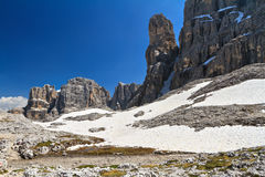 Dolomiti - landscape in Sella mount Stock Image
