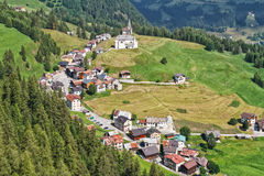 Dolomiti - Laste村庄 免版税库存图片