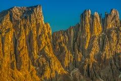 Dolomiti - Latemar alla luce di tramonto Immagine Stock Libera da Diritti