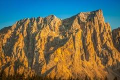 Dolomiti - Latemar alla luce di tramonto Fotografia Stock