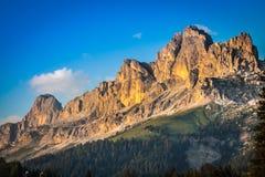Dolomiti - Latemar alla luce di tramonto Immagini Stock Libere da Diritti