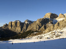 Dolomiti, lift Canazei - Pekol Royalty-vrije Stock Fotografie