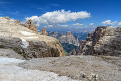 Dolomiti - Mezdi valley in Sella mount Royalty Free Stock Photos