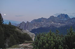 Dolomiti moonrise Royalty Free Stock Images