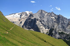 Dolomiti - mount Marmolada stock photography