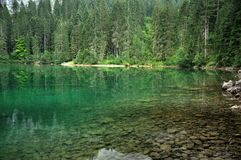 Dolomiti mountain lake landscape2 Royalty Free Stock Photo