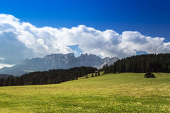 Dolomiti, mountain Latemar panorama Royalty Free Stock Image