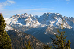 Dolomiti mountain, trentino, italy. Dolomiti mountains of Italy in wintertime Stock Image
