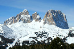 Dolomiti mountain, trentino, italy. Dolomiti mountains of Italy in wintertime Royalty Free Stock Photography