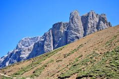 Dolomiti mountains. Mountain top in the Dolomiti mountains unesco val di fassa stock images